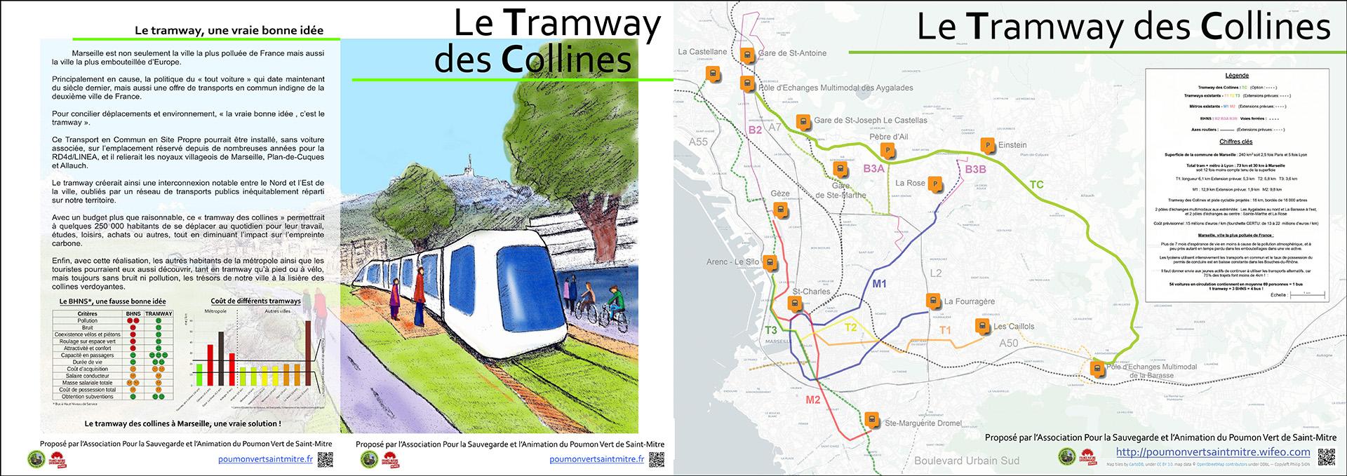 Dépliant Tramway des Collines avec argumentaire