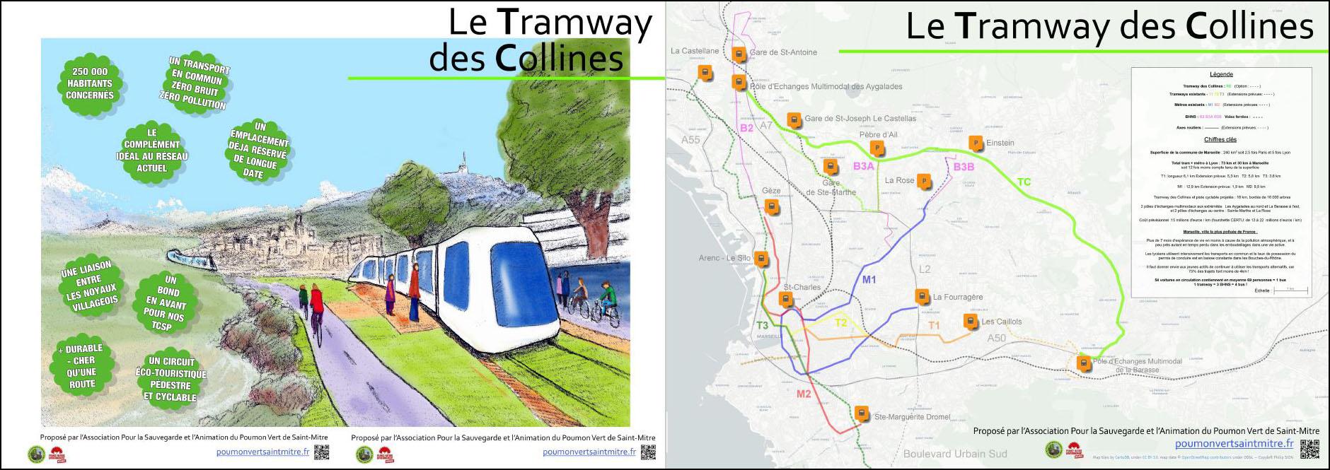 Dépliant Tramway des Collines grand public